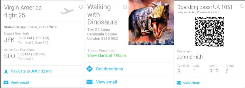 Google Now Reservation Card