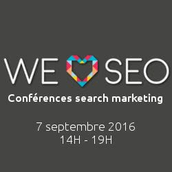 Logo We Love SEO 2016 - Conférence search marketing