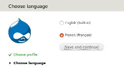 Param&trer Drupal en français