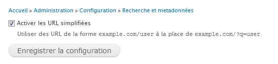 Activation URL simplifiées pour drupal 7